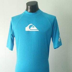 Rash Guard Surf Swim Top Teal Turquoise